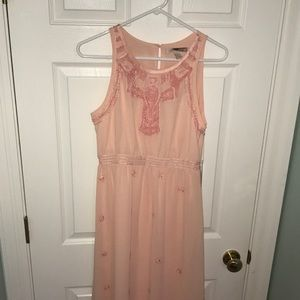 Peach Bejeweled Forever 21 Maxidress